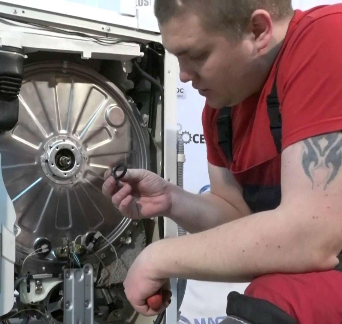 Замена подшипника в стиральной машине атлант своими руками 21